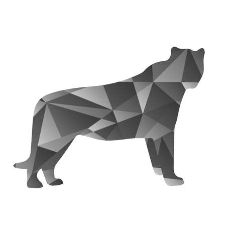 banter: grey shapes abstract panther. Animal isolated illustration Illustration