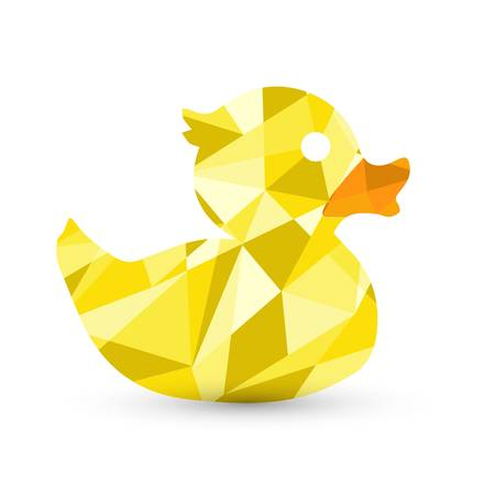 ducky: abstract rubber duck in shapes illustration design graphic Illustration