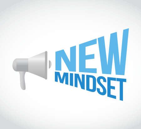 mindset: new mindset megaphone message. illustration design graphic