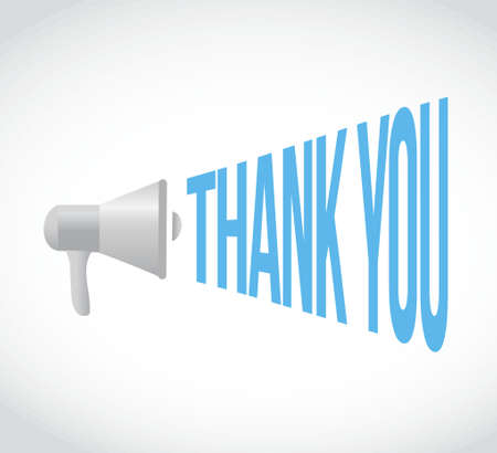 using voice: thank you megaphone message. illustration design graphic