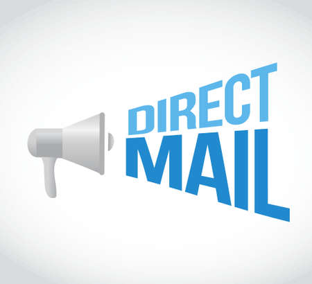 direct mail megaphone message. illustration design graphic