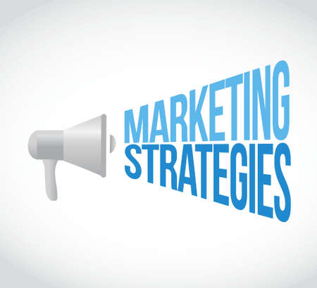 using voice: marketing Strategies megaphone message. illustration design graphic Illustration