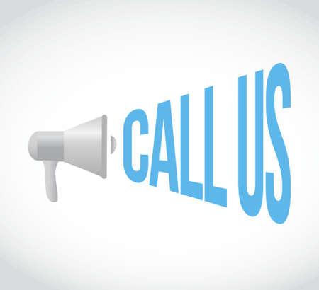 call us: call us megaphone message. illustration design graphic Illustration