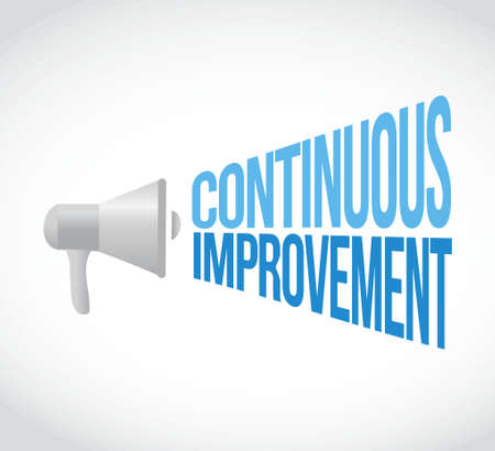 continuous improvement megaphone message. illustration design graphic