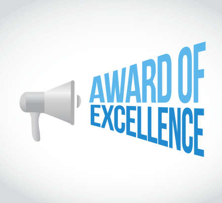 Award of Excellence Megaphon Nachricht. Illustration, Design, Grafik