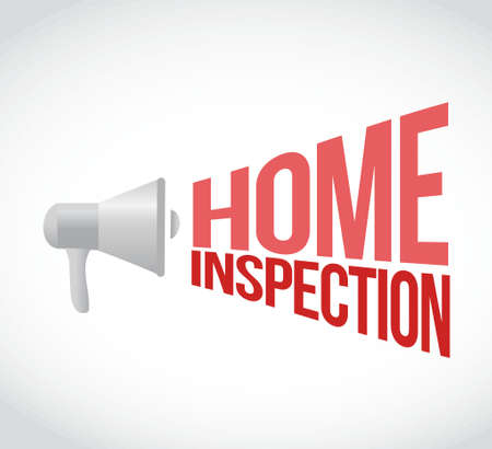 home inspection: home inspection megaphone message. illustration design graphic