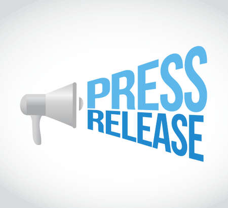 press release: press release megaphone message. illustration design graphic
