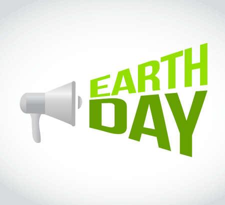 earth day megaphone message. illustration design graphic