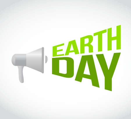 earth day megaphone message. illustration design graphic