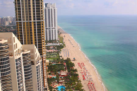 sunny beach: Sunny Isles Beach Miami. Ocean front residences. aerial landscape panoramic vew