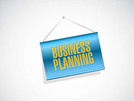 hanging banner: business planning hanging banner sign concept illustration graphic design Stock Photo