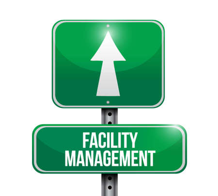 post office building: facility management road sign illustration design graphic