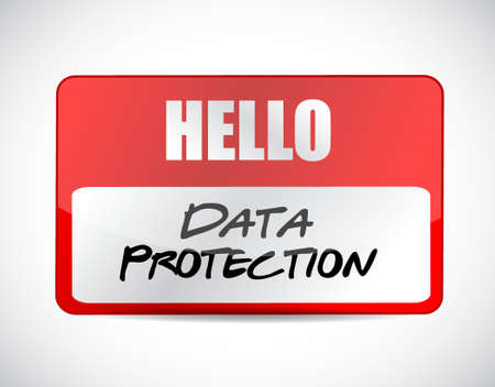 Data Protection name tag sign illustration design graphic