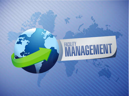 business continuity: facility management global sign illustration design graphic