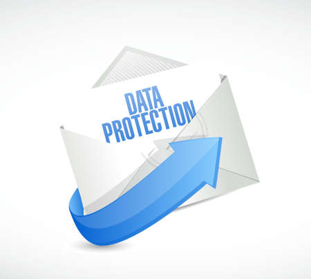 Data Protection mail sign illustration design graphic