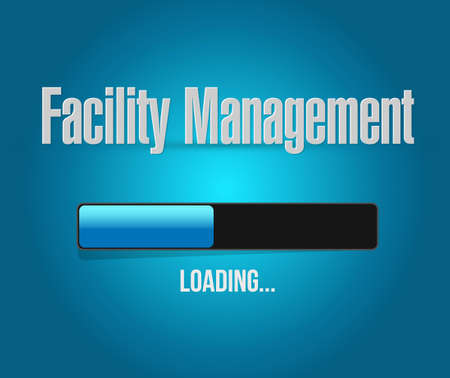 facility: facility management loading bar sign illustration design graphic Illustration