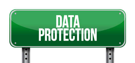 Data Protection street sign illustration design graphic Stock fotó - 58923332