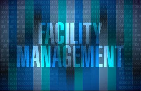 facility management binary sign illustration design graphic