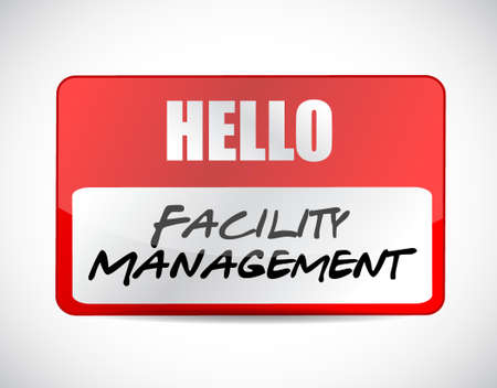 facility management name tag sign illustration design graphic