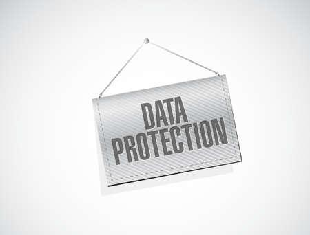 Data Protection banner sign illustration design graphic Illusztráció