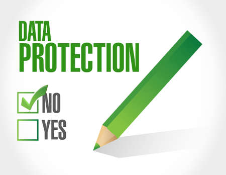no Data Protection approval sign illustration design graphic