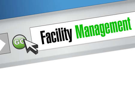 home finances: facility management browser sign illustration design graphic Illustration