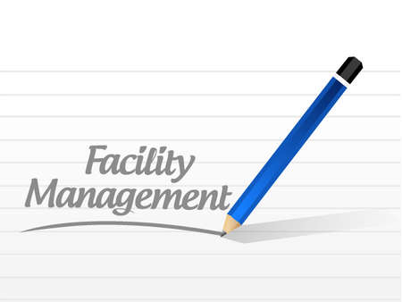 the facility: facility management message sign illustration design graphic Illustration