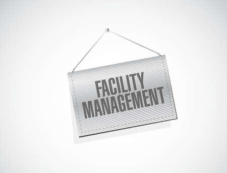 the facility: facility management banner sign illustration design graphic Illustration