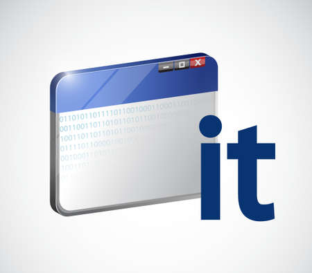 Technologie de l'information en ligne concept illustration design graphique Banque d'images - 59972528