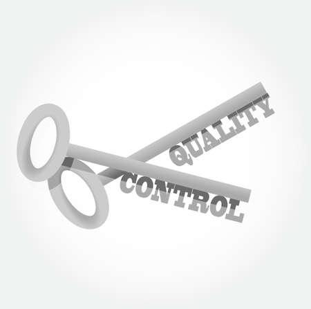 quality control: quality control key concept illustration design graphic