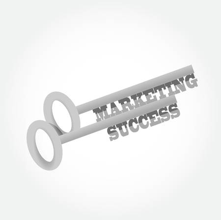 success key: marketing success key concept illustration design graphic