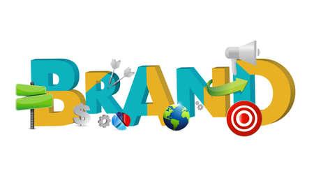 brand text icons concept illustration design graphic