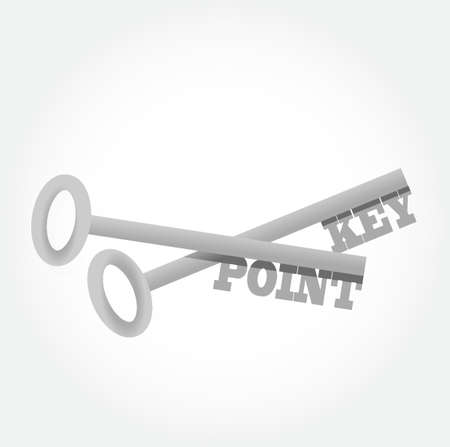 key point key concept illustration design graphic