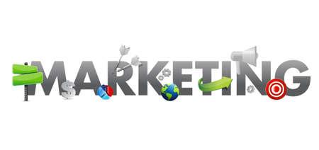marketing text icons concept illustration design graphic