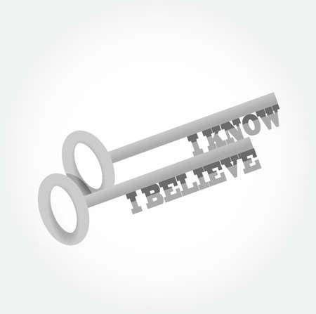 know: I Know I believe key concept illustration design graphic Illustration