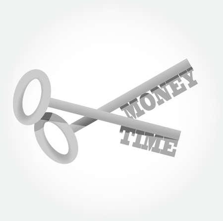 gain access: money time key concept illustration design graphic Illustration