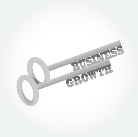 secure growth: business growth key concept illustration design graphic Illustration