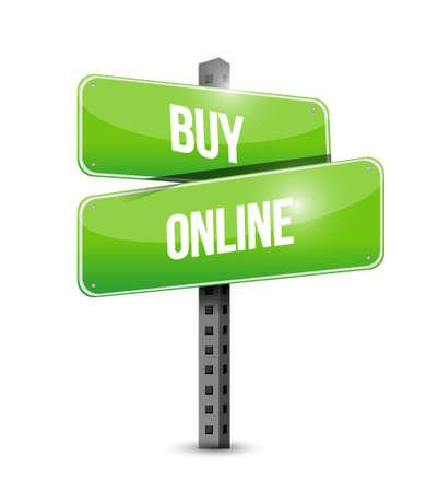 buy online street sign illustration design graphic