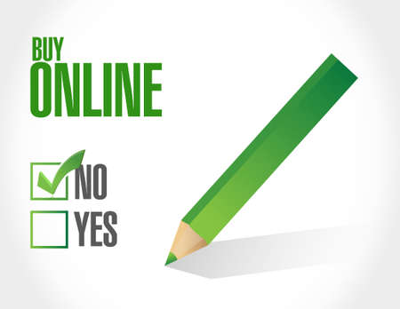 buy online written message sign illustration design graphic