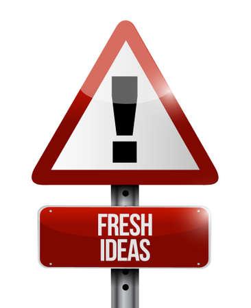 Fresh Ideas warning sign concept illustration design graphic
