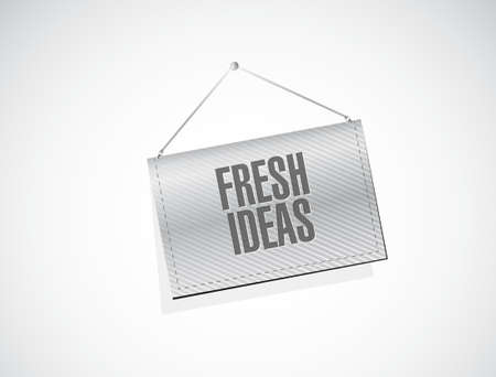 concept and ideas: Fresh Ideas banner sign concept illustration design graphic Illustration