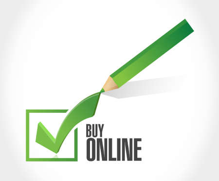 check sign: buy online check mark sign illustration design graphic