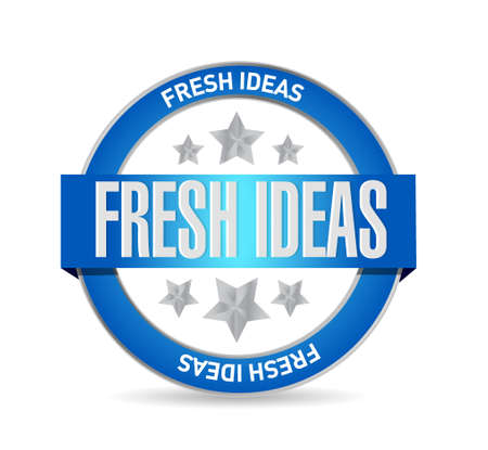concept and ideas: Fresh Ideas seal sign concept illustration design graphic Illustration