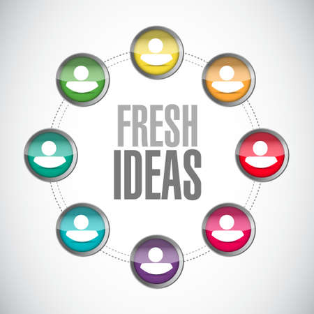 concept and ideas: Fresh Ideas network sign concept illustration design graphic