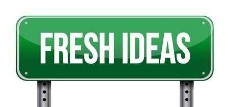 Fresh Ideas street sign concept illustration design graphic Illustration