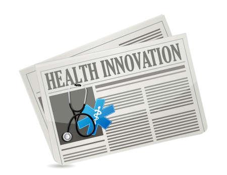 periodicos: Salud Innovación comunicación concepto periódico de ilustración de la muestra de diseño gráfico Vectores