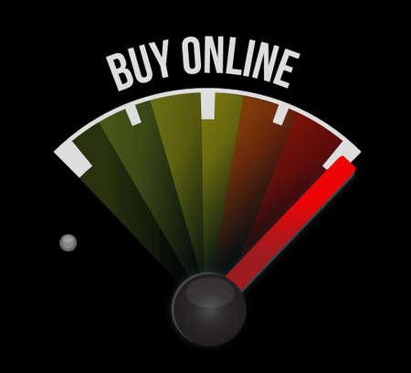 buy online meter sign illustration design graphic Illustration