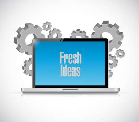 Fresh Ideas computer sign concept illustration design graphic