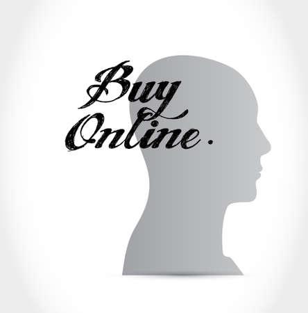 buy online thinking brain sign illustration design graphic Illustration