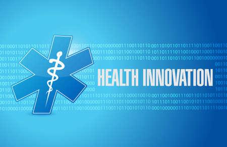 Health Innovation binaire achtergrond concept illustratie teken grafisch Stock Illustratie